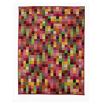 Flair Rugs Retro Funky Multicoloured Pixel Floor Rug - low-cost UK light shop.