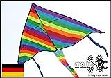 Drachen-Rainbow Drache Regenbogen Herbstdrachen inclusive Drachenschnur - Erwachsene und Familien | Einfach zu Fliegen bei Starkem Wind oder Leichter Brise | Leicht und Stabil | tolle leuchtende Farben - Einleiner Drachen für Groß und Klein - Regenbogen Kinderdrachen - Drachenflieger - molinoRC® BRD