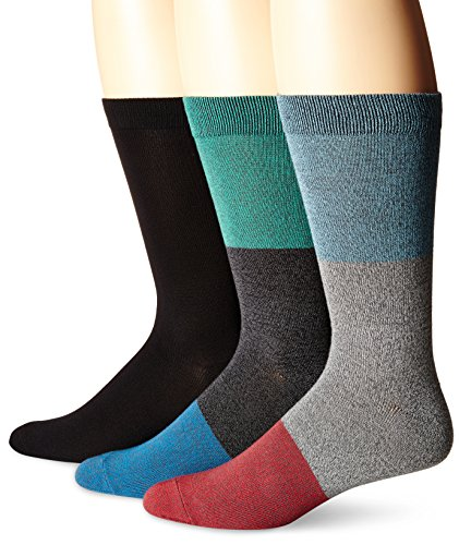 K.Bell Black Label Herren The Treasurer 3er-Pack Crew Socken, Schwarz/Grau, 38-47 - Black Label Crew