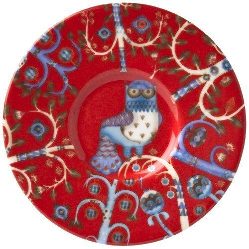 Iittala Taika 6-Inch Saucer, Red by Iittala