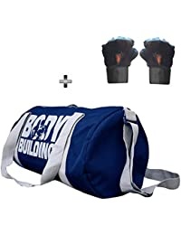 5 O' CLOCK SPORTS Gym Bag Combo Set Enclosed With Body Building Polyster Duffle Gym Bag For Men And Women For...