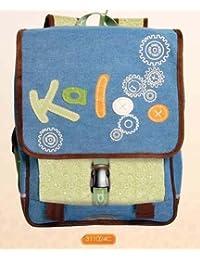 """Clairefontaine, sac à dos à rabat + porte monnaie enfant garçon, marque """"KALOO"""", 36x30x15,5cm"""