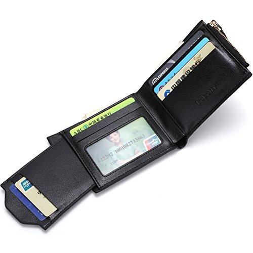 Baborry-Herren Gents Luxus Brieftasche Mit KRotitkarte ID Tasche & Reißverschluss Münztasche Grau Grau