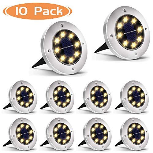 Luz Solar Jardin 8 LED, WZTO Luces Solares Exterior Jardin Impermeable Iluminacion...