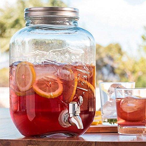 3.5Lt Glass Drink Beverage Dispenser Jar by OTB
