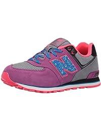NEW BALANCE - Zapatillas para niña, Color: Lila, Talla: 38