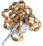 Rosenkranz Kette - Olivenholz Handarbeit aus Bethlehem - mit Erde aus dem heiligen Land