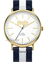 Superdry Analog White Dial Men's Watch - SYG183WUE