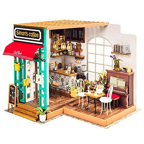 CX TECH DIY Haus Miniatur Gewächshaus Handwerk Haus Kreatives Glück Cottage Hobbyists Modell Mit LED-Licht Beste Geburtstagsgeschenke