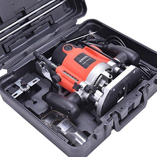 12er Oberfräse Fräsmaschine Hand Kanten Fräser mit Fräsköpfe 230V Kabelkanal 1500W mit Koffer - 3