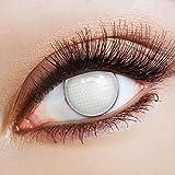 aricona Farblinsen weiße Kontaktlinsen Gitternetz zum Halloween Zombie Kostüm