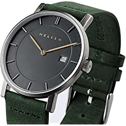 Meller Unisex Nag Forest Minimalist Watch with Grey Analogue Display and Leather Strap