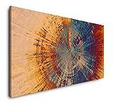 Paul Sinus Art Abstraktes Gemälde 120x 60cm Panorama Leinwand Bild XXL Format Wandbilder Wohnzimmer Wohnung Deko Kunstdrucke