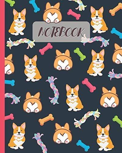 Notebook: Cute Corgi & Butt - Lined Notebook, Diary, Track, Log & Journal - Gift Idea for Boys Girls Teens Men Women (8