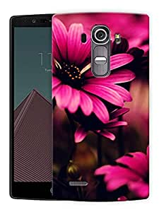 """Humor Gang Pretty Pink Flowers Printed Designer Mobile Back Cover For """"LG G4"""" (3D, Matte Finish, Premium Quality, Protective Snap On Slim Hard Phone Case, Multi Color)"""
