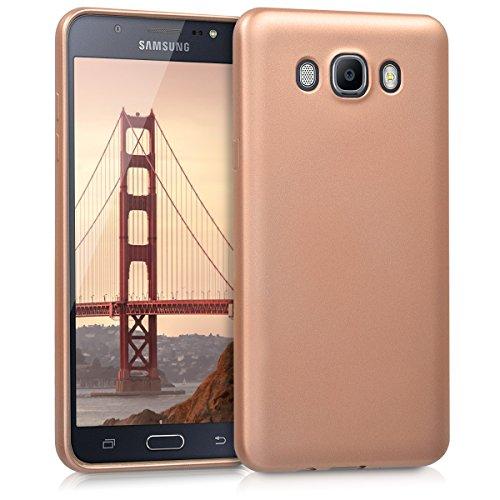 kwmobile Samsung Galaxy J7 (2016) Hülle - Handyhülle für Samsung Galaxy J7 (2016) - Handy Case in Metallic Rosegold