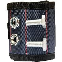 Pulsera magnética para sostener tornillos, clavos, tuercas, brocas, con imanes fuertes, unisex