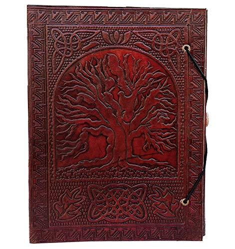 Dunkelbraune, Geprägte Leder (Großer Baum des Lebens Leder-Tagebuch gebundenes Leder-Tagebuch zum Schreiben in Leder-Tagebuch, Prägungen, Leder-Tagebuch, Fantasy-Leder-Tagebuch, Notizbücher, Leder-Journal für Männer und Frauen)