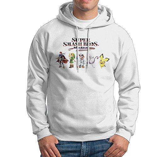 Desconocido UFBDJF20 Super Smash Bros. Melee 2 - Sudadera con Capucha para Hombre (Manga Larga), Color Blanco
