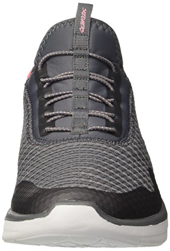Skechers Synergy 2.0-Mirror Image, Sneaker Infilare Donna Grigio (Charcoal/coral)