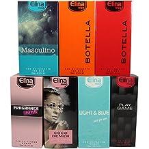 Set de 7 (siete) Perfumes de Primera Calidad Importados -ref23- de 15 ml Cada uno en botella de lujo con caja y atomizador 4 para Hombre y 3 para Mujer.