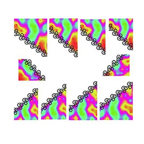 10Pcs Belle Nail Art Conseils Sticker décoration pour les dames, No.15