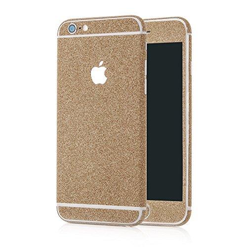 MC24® Glamour Skin Glitzerfolie für Apple iPhone 6 in bronze - Diamond Shine Klebefolie für die Vorder- und Rückseite