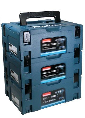 Makita MAKPACSET2 Makpac Gr. 2 Transportbox 3er Set, 22 x 250 mm