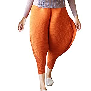 MCYs Frauen Hühnchen-Hosen Neuheit Feste lose Leggings Hühnerbeine Hose Freizeithosen Yoga Pants Haremshosen (XL, Braun)