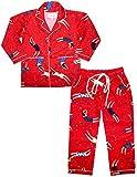 #8: ShopMozo - Red Multicolor Cotton Unisex Night Suit ( Night Wear Dress Boys and Girls )