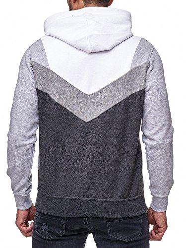 Rusty Neal Sweatshirt Mix Herren Sweat Hoody Kapuze Reißverschluss 19047 Weiß