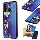 Bluehare Funda para Huawei P30 Lite / Nova 4e (6.15 Pulgadas), TPU Suave Silicona Protector Case Anti-Choque Ultra-Delgado Anti-arañazos Case - Mariposa