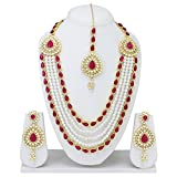 Spangel Fashion Maharani Haar Pearl Neck...