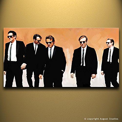 Reservoir Dogs Movie artista opera originale firmato pittura poster stampa artistica su tela # 1, 30