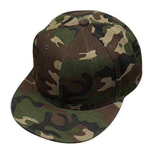 Occitop Men Women Camouflage Snapback Hats Adjustable Camo Baseball caps Army Green