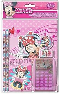 Frajodis-0006379-Set papelería con calculadora-Minnie Mouse