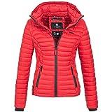 Marikoo SAMTPFOTE Damen Stepp Jacke Daunen Look gesteppt Übergang XS-XXL 11-Farben, Größe:L;Farbe:Rot