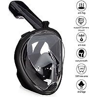 Zenoplige Tauchermaske mit 180-Grad-Sicht mit verstellbarem Gomas für den ganzen Kopf oder Gesicht, Schnorchel Schnorchel Incorporated, unterstützen Zenoplige Sport und Gopro Kamera