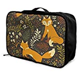 Portable Luggage Duffel Bag Autumn Fox Travel Bags Carry-on In Trolley Handle