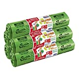 Domopak Spazzy Sacchi Nettezza Saccoverde Avvolgi & Chiudi - Casalingo 40 lt - Verde - 5 confezioni da 20 pezzi