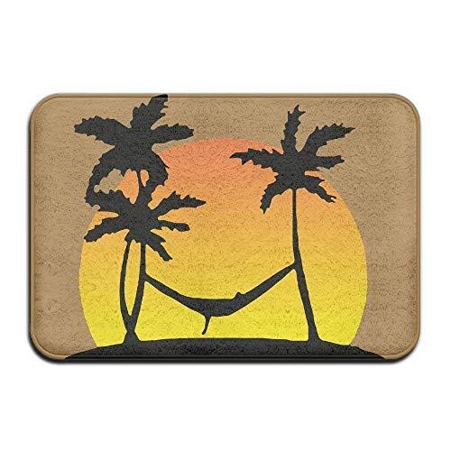 artyly Outdoor-Fußmatte-Teppich, Sun Tree im Paradies Indoor/Outdoor-Fußmatte Teppich für Gesundheit und Wellness Küche Flur Bad Büro Bad Fußmatte 40x60 cm -
