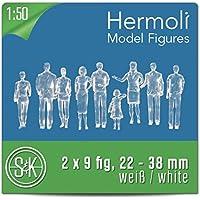 18 Modelo Figuras Blanco / sin pintar 1:50 escala (aprox 0-scale) (transparente)