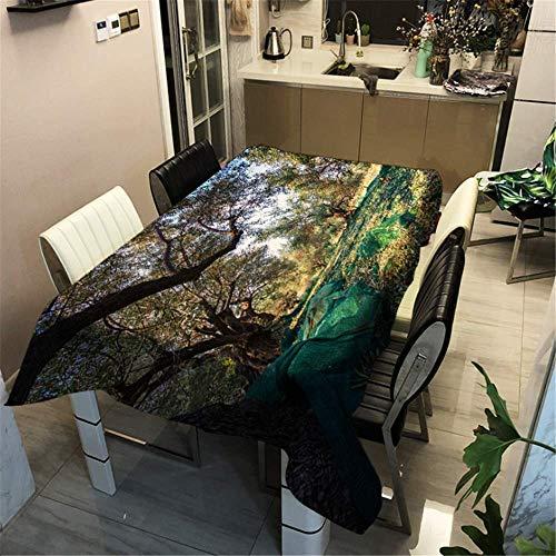 Black Dress Little Kostüm - SONGHJ Polyester Baumwolle Wald Gedruckt Tischdecke Tischset Festliche Dekoration Tischabdeckung Hause wasserdichte Tischdecke C 40x40 cm / 16x16in