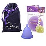 Me Luna Menstruationstasse Sport, Kugel, Blau-Violett, Größe Shorty L