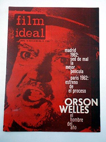 REVISTA FILM IDEAL 113. ORSON WELLES EL HOMBRE DEL AÑO. CINE