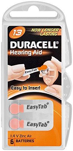 Cellules auditive duracell pile bouton air-zinc v13