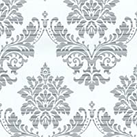 P & S International Catherine Lansfield diseño de patrón de Damasco papel pintado metálico