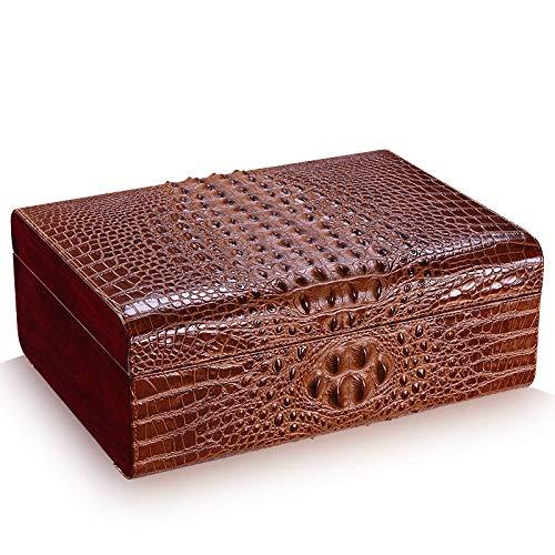 CZZ Zigarren-Humidor,Zedernholz Zigarrenschachtel,Zweiter Stock Zigarrenetui,Hohe Kapazität Zeder-Humidor Humidor-Schrank/A / 35 * 26 * 13.5 cm - Cutter Stock