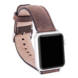 Bouletta Lederarmband geeignet für Apple Watch 1/2 / 3/4 Uhrenarmband inkl. 38 mm Connector mit Dornverschluss