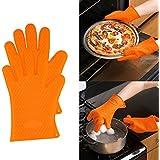 guantes de silicona resistente al calor regalo para barbacoa mitones del horno para asar, hornear, agarradores de cocina revisión